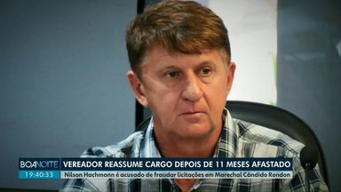 Vereador Nilson Hachmann do PL de Marechal Cândido Rondon reassume cargo - Hachmann ficou quase um ano afastado acusado de fraude em licitações.