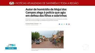 Confira as notícias que em destaque no G1 Santarém e região - Homicídio em Mojuí dos Campos e Doação de pescado em Alenquer são destaque no g1.com.br/tvtapajos