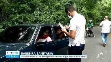 Barreira sanitária entre Sobral e Meruoca - Confira mais notícias em g1.globo.com/ce