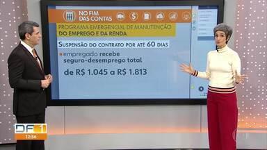 No Fim das Contas, quem tem salário maior perde mais com a redução de jornada e salário - A repórter de economia, Mônica Carvalho, explica como funciona o Programa Emergencial de Manutenção do Emprego e da Renda, que vale até junho de 2020.