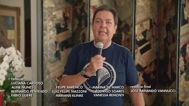 Programa de 12/04/2020 - Fausto Silva comanda o programa