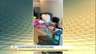 Polícia de SP faz operação em busca de materiais hospitalares furtados - Em um só depósito foram encontrados sete mil aventais.