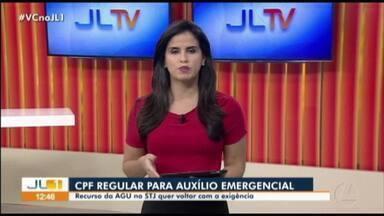 AGU pede derrubada da liminar que suspende exigência de CPF para recedimento de 600 reais - A decisão, que saiu na última quarta-feira, foi dada pelo tribunal regional federal da primeira região, e atendeu a um pedido do governo do Pará.