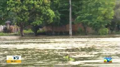 Nível do Rio Pindaré volta a subir no Maranhão - Nível do Rio Pindaré voltou a subir rápido nos últimos dias e isso tem preocupado autoridades e moradores.