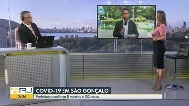 São Gonçalo tem 132 casos e 8 mortes - Quem tiver sintomas graves deve procurar o centro de triagem ao coronavírus, no bairro Zé Garoto.