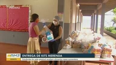No Amapá, kits merenda são entregues para famílias de alunos - Estudantes da rede estadual estão recebendo alimentos.
