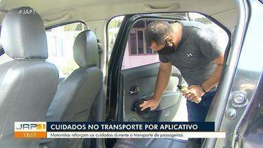 Coronavírus: motoristas reforçam higiene para atender clientes no Amapá - Coronavírus: motoristas reforçam higiene para atender clientes no Amapá