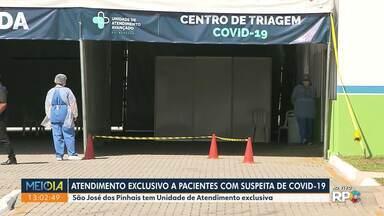 São José dos Pinhais terá Unidade de Atendimento exclusiva a partir de quarta-feira (22) - Desde sexta-feira a unidade está funcionando. São 3 leitos de isolamento e dois de UTI.