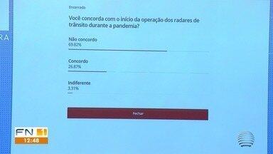 Cerca de 70% das pessoas não concordam com o início dos radares durante a quarentena - Enquete foi realizada pelo G1. Equipamentos começaram a funcionar em Presidente Prudente.