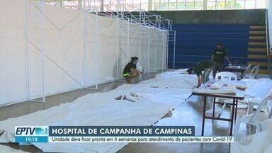 Hospital de Campanha de Campinas deve ser finalizado em quatro semanas - Pacientes serão atendidos mediante encaminhamento pela central de regulação de vagas do município.