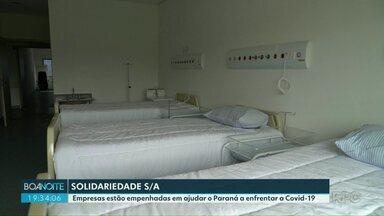 Empresas estão empenhadas em ajudar o Paraná a enfrentar a COVID-19 - Conheça alguns projetos que estão sendo feitos no estado.