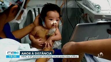 Visitas virtuais para aliviar a saudade de pacientes internados na capital - Confira mais notícias em g1.globo.com/ce