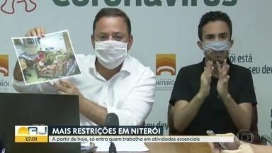Niterói adota medidas para conter o avanço da Covid-19 - Além do uso da máscara, somente pessoas que exerçam atividades essenciais poderão entrar na cidade de Niterói. Essas medidas são para conter o avanço do novo coronavírus.