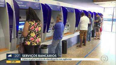 Caixa Econômica Federal amplia horário de atendimento de 80 agências em Minas Gerais - As unidades vão funcionar de 8h às 14h para serviços essenciais