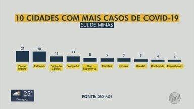 Sul de Minas tem 144 casos confirmados de Covid-19, com 11 mortes - Oito novos casos entraram em estatísticas da SES-MG