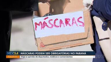 Máscaras podem ser obrigatórias no Paraná - Deputados Estaduais discutem a obrigatoriedade.