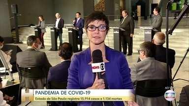 Governo Paulista diz que flexibilização da quarentena depende índice de isolamento - Prefeitura de São Paulo anuncia plano de contingência do serviço funerário