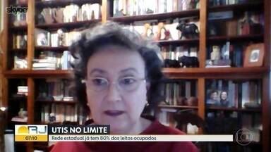 Especialista analisa qual o momento que o estado vive na pandemia da Covid-19 - A pneumologista Margareth Dalcolmo, pesquisadora da Fiocruz e faz parte do grupo de especialistas que colaborando com o Ministério da Saúde no enfrentamento da pandemia comenta sobre a importância de leitos de UTI.