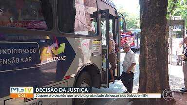 Suspenso o decreto que proibia gratuidade de idosos nos ônibus em BH - Prefeitura publicou hoje no Diário Oficial do Município a revogação do artigo do decreto.