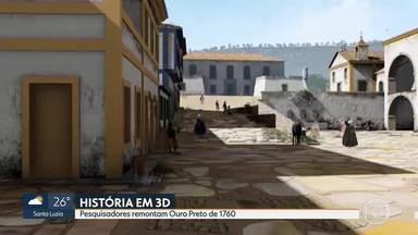 Pesquisadores remontam Ouro Preto de 1760 - Projeto é alunos e professores do Instituto Federal de Minas Gerais.
