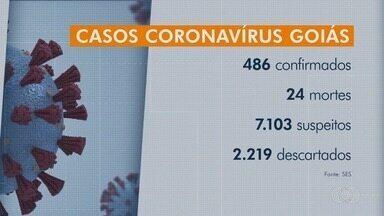Mortes por coronavírus sobem para 24 em Goiás, diz Ministério da Saúde - Pasta informou ainda que há 486 pessoas infectadas com o novo vírus e 7,1 mil estão sob investigação.