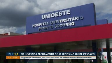 MP investiga fechamento de 59 leitos no Hospital Universitário de Cascavel - Segundo o promotor, um terço das alas de enfermaria do HU foi fechada.