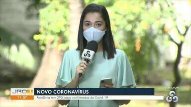 Casos de Covid-19 em Rondônia chegam a 290 - Dados são da Secretaria de Estado da Saúde.