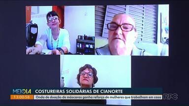 """Costureiras voluntárias de Cianorte se unem para distribuir máscaras - """"Acessório"""" também é equipamento de proteção na luta contra o coronavírus. Na Capital do Vestuário, profissionais dão lição de solidariedade."""