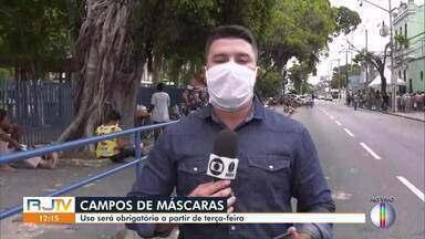 Uso de máscara será obrigatório a partir de terça em Campos, no RJ - O decreto será publicado neste sábado (25) pelo prefeito Rafael Diniz, que divulgou a informação na noite desta sexta (24) em vídeo postado nas redes sociais.