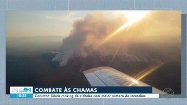 Força-tarefa combate incêndios florestais no Pantanal de MS - Força-tarefa combate incêndios florestais no Pantanal de MS