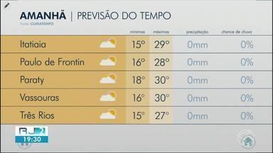Meteorologia prevê domingo de sol no Sul do Rio - Temperaturas devem ficar altas e não há probabilidade de chuva.