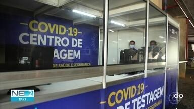 Estado abre dois centros de testagem de Covid-19 para profissionais de saúde e segurança - Parentes dos profissionais de áreas essenciais também são testados nesses espaços.