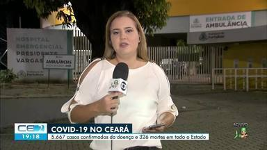 Número de mortes pela covid-19 no Ceará chega a 326 - Saiba mais no g1.com.br/ce
