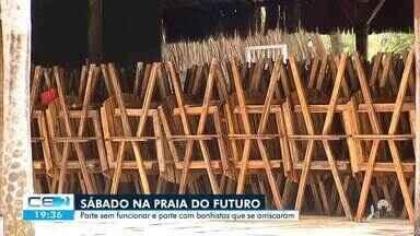 População fura a quarentena e vai à Praia do Futuro nesse sábado - Saiba mais no g1.com.br/ce