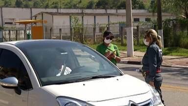Guararema faz blitz sanitária nas entradas da cidade - Objetivo é conter o aumento do número de casos de Covid-19.