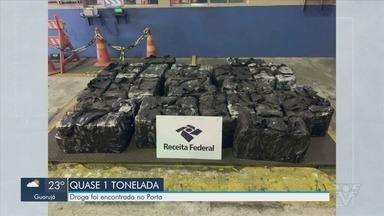 Quase uma tonelada de cocaína é apreendida no Porto de Santos - Apreensão foi a segunda maior feita no Porto em 2020.