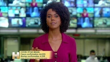 Covid-19 já matou mais de 4.300 pessoas no Brasil; infectados passam de 64 mil - Levantamento em tempo real do G1 usa dados das secretarias estaduais da saúde.