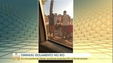 Em cinco bairros do Rio, movimento aumentou 55% no fim de semana - Mureta da Urca teve mais movimento neste fim de semana.