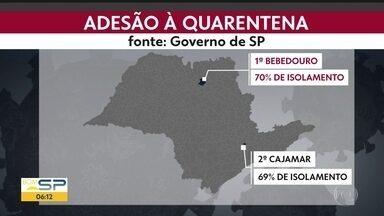 Grande ABC decide seguir na quarentena - Cajamar é a cidade na Grande SP com a melhor taxa de adesão ao isolamento social.