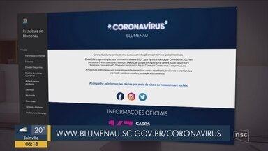 Prefeitura lança serviço de informação sobre o coronavírus em Blumenau - Prefeitura lança serviço de informação sobre o coronavírus em Blumenau