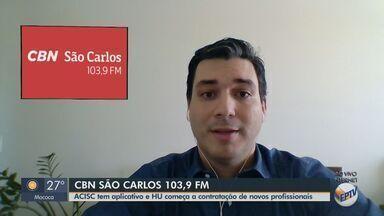 Aplicativo da Acisc reúne lojas com entregas em São Carlos - Apresentador da CBN Flávio Mesquita tem mais detalhes.