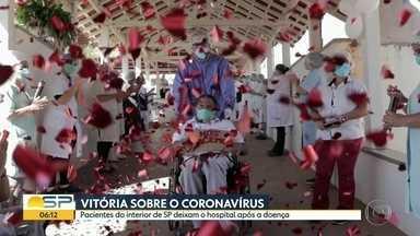 Pacientes que venceram o coronavírus - Os casos emocionantes de pessoas que receberam alta.