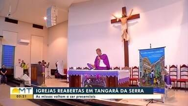 Igreja volta a realizar missas em Tangará da Serra - Igreja volta a realizar missas em Tangará da Serra