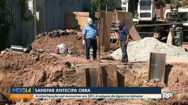 Sanepar antecipa obra para aumentar volume de água - Segundo a empresa, a obra é importante neste momento de estiagem em Curitiba
