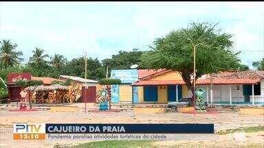 Pandemia paralisa atividades turísticas em cajueiro da praia - Pandemia paralisa atividades turísticas em cajueiro da praia