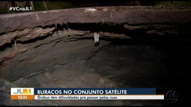 Moradores alertam para alto número de buracos no conjunto Satélite, no Coqueiro, em Belém - Moradores alertam para alto número de buracos no conjunto Satélite, no Coqueiro, em Belém