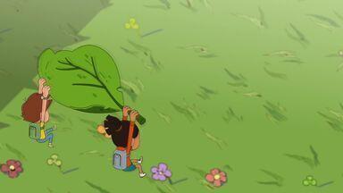 Os Insetos - Dado e Malika brincam com uma máquina inventada pelo professor Toybos, encolhem de tamanho e precisam da ajuda de insetos para voltar ao normal.