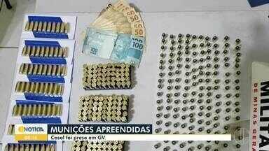 Casal é preso transportando quase 500 munições na BR-259, em Governador Valadares - Segundo a Polícia Militar, dupla retornava de Serra, no Espírito Santo. O motorista disse não saber que levava itens ilícitos, ele possui passagens por tráfico de drogas.