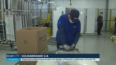 Solidariedade S/A - Empresas estão empenhadas em ajudar o Paraná a enfrentar a Covid-19.