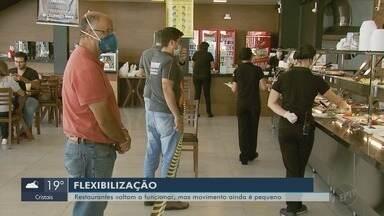 Após reabertura, restaurantes ainda têm movimento tímido em Varginha (MG) - Após reabertura, restaurantes ainda têm movimento tímido em Varginha (MG)